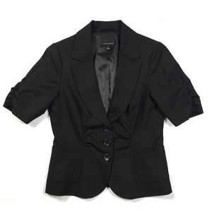 Limited Ruched Front Short Sleeve Blazer